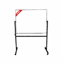 Papan Tulis (Whiteboard) Stand Double Face Sanko 90 x 120 cm